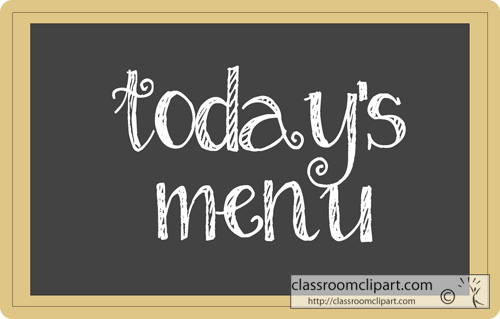 Today's Menu Chalkboard